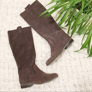 Michael Kors Brown Suede Riding Boot 8.5